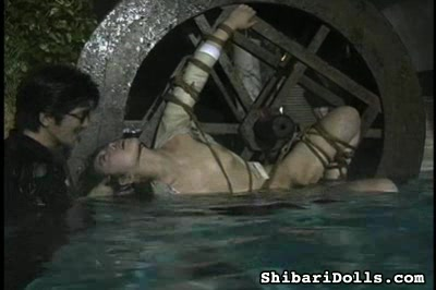 Violated housewife1. Strung up, she is violated while she screams. Then she is submerged in water in danger of drowning