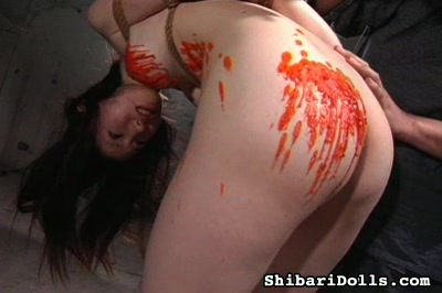 All women are whores7. With clothespins pinching her lip and nipples, she has hot wax poured on her body